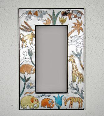68 miroir vertical animaux africains c ramique d 39 art les for Miroir paris france
